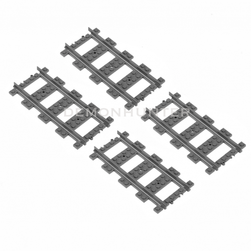 LEGO Straight train track pieces x4 7499 8867 7938 7939 60051