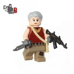 "This custom designed Minifigure is based upon Carol Peletier from the popular Walking Dead Series. Includes Carol's Assault rifle and knife. Made using genuine LEGO parts except for the rifle and knife which are professionally custom made. Each minifigure is carefully packaged into a re-sealable bag and shipped in a bubble lined envelope for extra protection. ""LEGO® is a trademark of the LEGO Group of companies. The LEGO Group does not sponsor, authorise or endorse the modified/customised product(s) shown nor does it accept responsibility in any way, shape or form for any unforeseen and/pr adverse consequences following from such customisation/modification."""