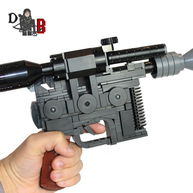 "This listing is for all the parts to build your very own Dl-44 Heavy Blaster Pistol with stand inspired by Star Wars, it comes unassembled and upon purchase I will email you a PDF copy of the instructions and send out all the pieces necessary to build it as pictured. This is a 1:1 replica of Han's Blaster and measures 29cm in length and is 18cm tall on the stand. Made using genuine LEGO parts only. Each Blaster is carefully packaged into a re-sealable bag and shipped in a bubble lined envelope for extra protection. ""LEGO® is a trademark of the LEGO Group of companies. The LEGO Group does not sponsor, authorise or endorse the modified/customised product(s) shown nor does it accept responsibility in any way, shape or form for any unforeseen and/pr adverse consequences following from such customisation/modification.""*Not associated with Lucas film/Star Wars/Disney."