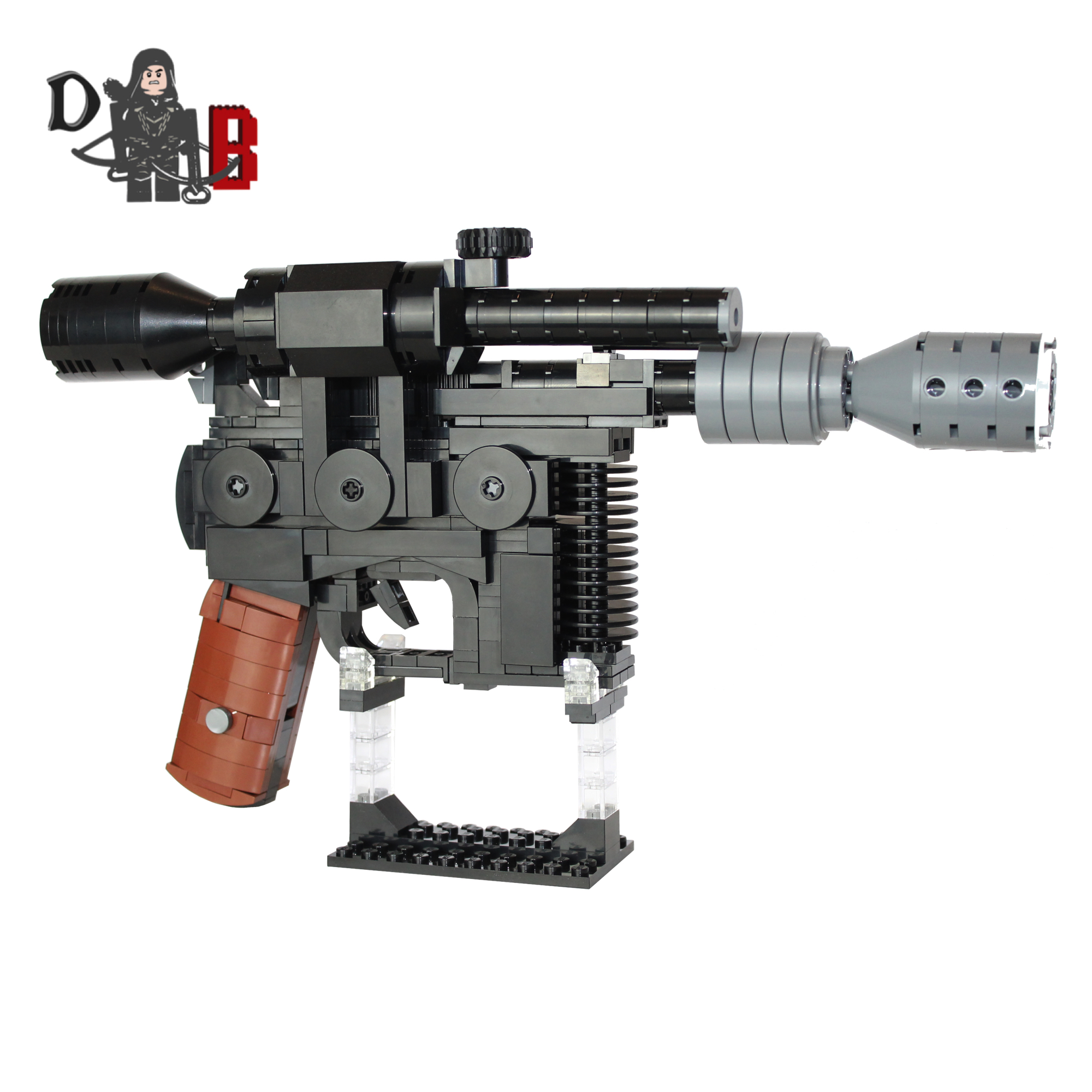 Han Solo S Dl 44 Heavy Blaster Pistol Demonhunter Bricks