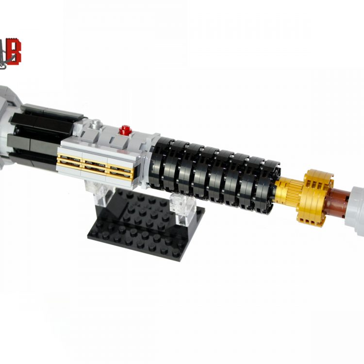 Star Wars Obi-Wan Kenobi's Lightsaber from Revenge of the Sith made using LEGO parts