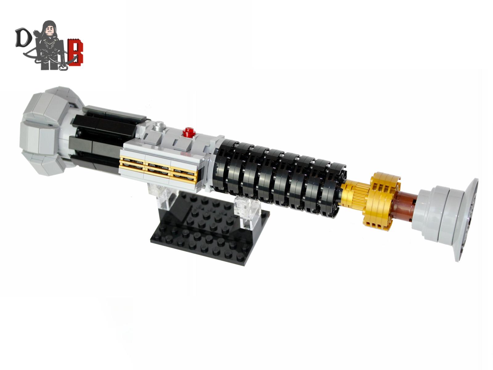 Star Wars Obi-Wan Kenobi's Lightsaber from Revenge of the Sith made using LEGO parts