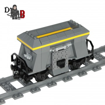 """This listing is for all the parts to build your very own hopper wagon, it comes unassembled and upon purchase I will email you a PDF copy of the instructions and send out all the pieces necessary to build it as pictured. The hopper measures 15cm long and 8 cm high and features 15 LEGO coal pieces to put in through the top and empty out the side doors. Includes 146 bricks made using genuine new LEGO parts only. Each Hopper is carefully packaged into a re-sealable bag and shipped in a bubble lined envelope for extra protection. """"LEGO® is a trademark of the LEGO Group of companies. The LEGO Group does not sponsor, authorise or endorse the modified/customised product(s) shown nor does it accept responsibility in any way, shape or form for any unforeseen and/pr adverse consequences following from such customisation/modification."""""""