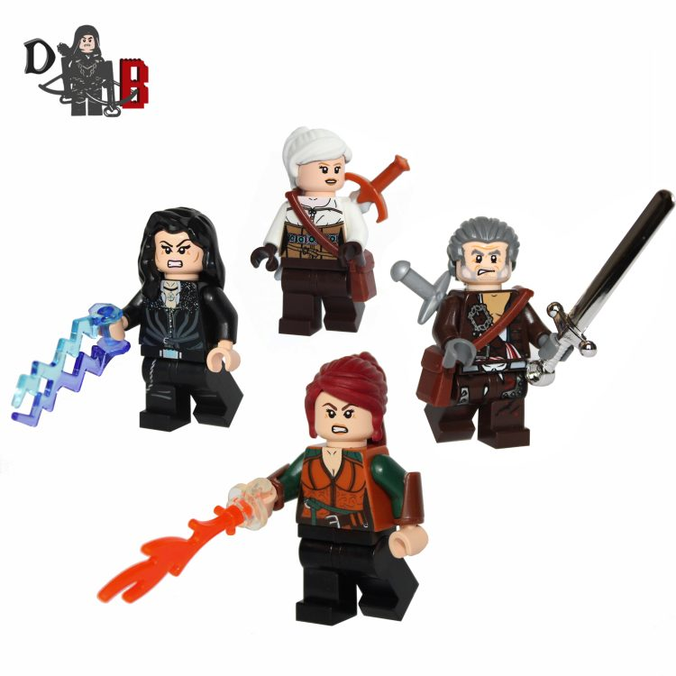"These custom designed Minifigure's are based upon Geralt, Ciri, Triss and Yennefer from the popular Witcher Series. Ciri's, Triss's and Yennefer's chest have been designed by me and permanently machine printed on. Made using genuine LEGO parts except for Triss's vambraces and Ciri's sword which have been professionally custom made. Each Minifigure is carefully packaged into a re-sealable bag and shipped in a bubble lined envelope for extra protection. ""LEGO® is a trademark of the LEGO Group of companies. The LEGO Group does not sponsor, authorise or endorse the modified/customised product(s) shown nor does it accept responsibility in any way, shape or form for any unforeseen and/pr adverse consequences following from such customisation/modification."""