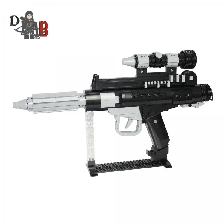 Star Wars Custom DH-17 Battlefront Rebel Blaster Pistol made using LEGO parts